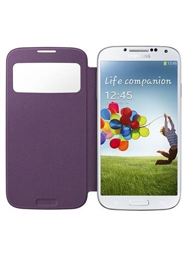 Samsung Samsung Galaxy S4 Orjinal S View Cover Kılıf - Mor Ef-Ci950Bvegww (Outlet) Renkli